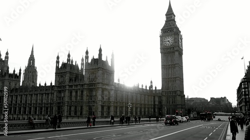 London Big Ben rot/schwarz