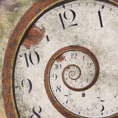 Rusty clock swirl