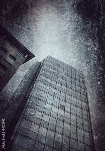 office block textured background