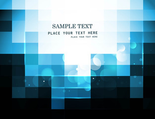 abstract blue colorful mosaic background