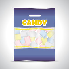 candy marshmallow bag