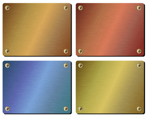 Realistic set of metal plates