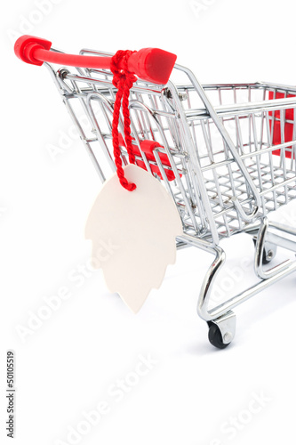 Tag on shopping cart