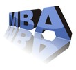 MBA (Master of Business Administration) - 3D concept