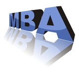MBA (Master of Business Administration) - 3D concept poster
