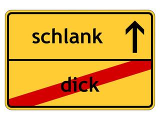 dick - schlank