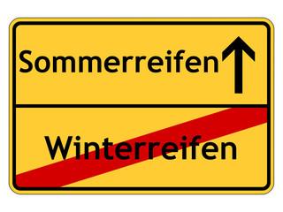 Winterreifen - Sommerreifen