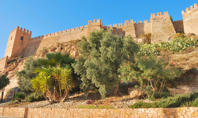Alcazaba, an old muslim construction in Almeria, Spain