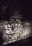 underground graffiti wall