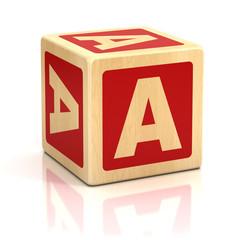 letter a alphabet cubes font
