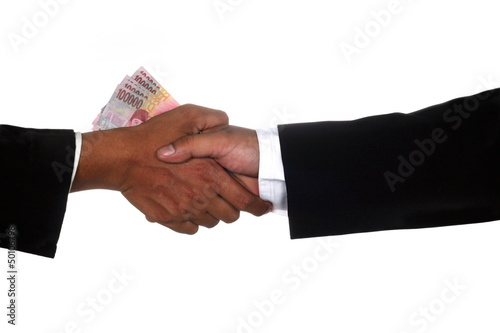 Man hands give money to other man hand