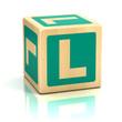 letter l alphabet cubes font