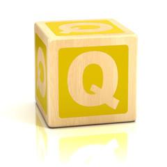 letter q alphabet cubes font