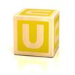 letter u alphabet cubes font