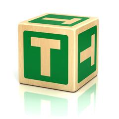 letter t alphabet cubes font