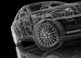 Fototapety car .3D model body structure