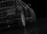 car .3D model body structure