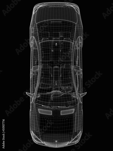car .3D model body structure