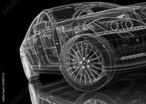Auto .3D Modellbaustruktur