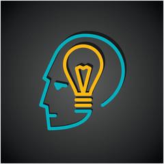Illustration of bulb in human head
