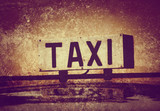 grunge taxi sign