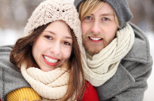 Portrait of smiling young couple