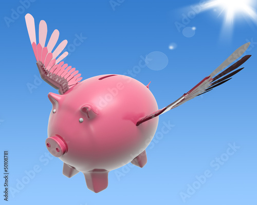 Flying Piggy Shows High Prosperity And Investment