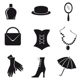 Accessories of the woman.Vector.