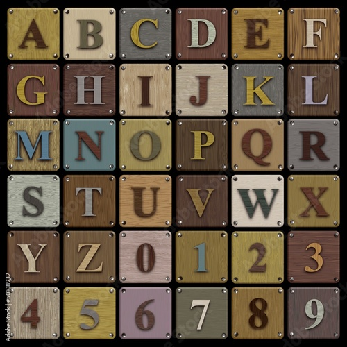 Wooden Block Alphabet