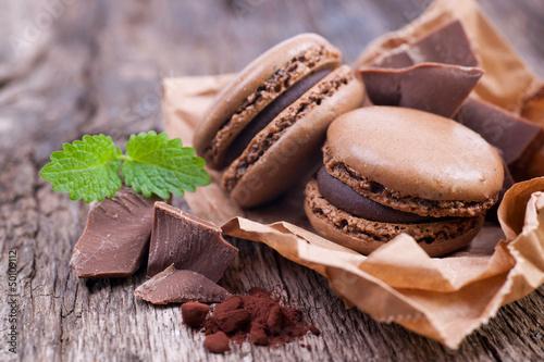 Macarons chocolat - 50109112