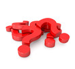 pile of 3d red question marks