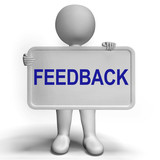 Feedback Sign Shows Opinion Evaluation And Surveys