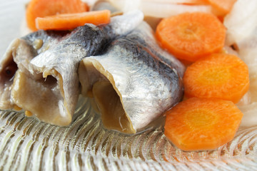 Preserved and pickled fish and vegetables