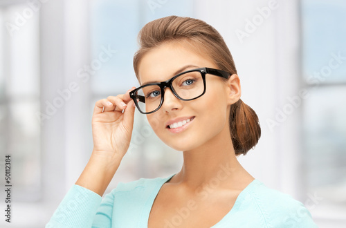 lovely woman in spectacles
