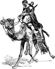 warrior on a camel