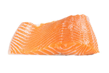 isolated salmon fillet