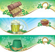 St. Patrick's Day horizontal banners