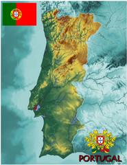 Portugal Europe national emblem map symbol motto