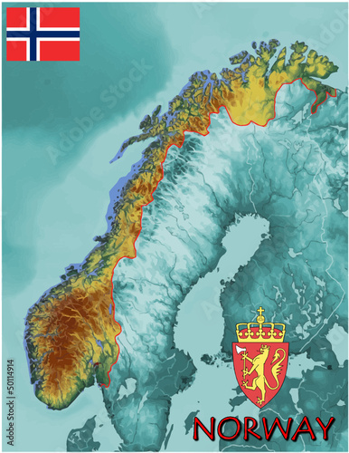 Norway Europe national emblem map symbol motto