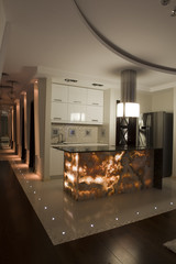 Interior of a modern apartment - low light atmosphere
