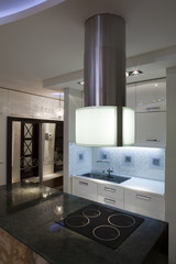 Interior of a modern luxury kitchen