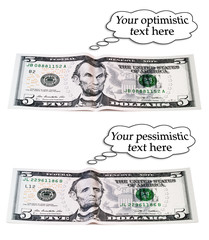 optimistic or pessimistic, 5 dollar set