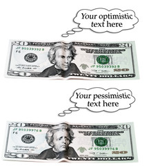optimistic or pessimistic, 20 dollar set