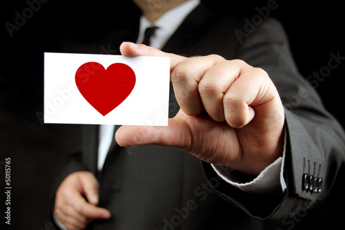 heart - business card