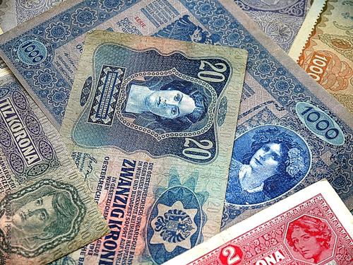 Старинные банкноты Австро-Венгерской империи
