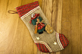 Epiphany sock decorated with old woman's .Befana