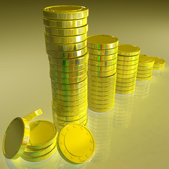 Statistics Of Coins Showing Monetary Reports
