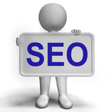 Seo Sign Shows Internet Optimization And Promotion