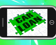 Car Loan On Smartphone Shows Car Rent