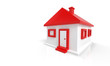 3D Haus Rot Weiß